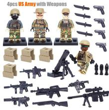 Bevle Decool 308-311 Marine Corps SWAT Amry Sniper Specia Force Building Block Toys   Brick Gift Compatible with Lepin