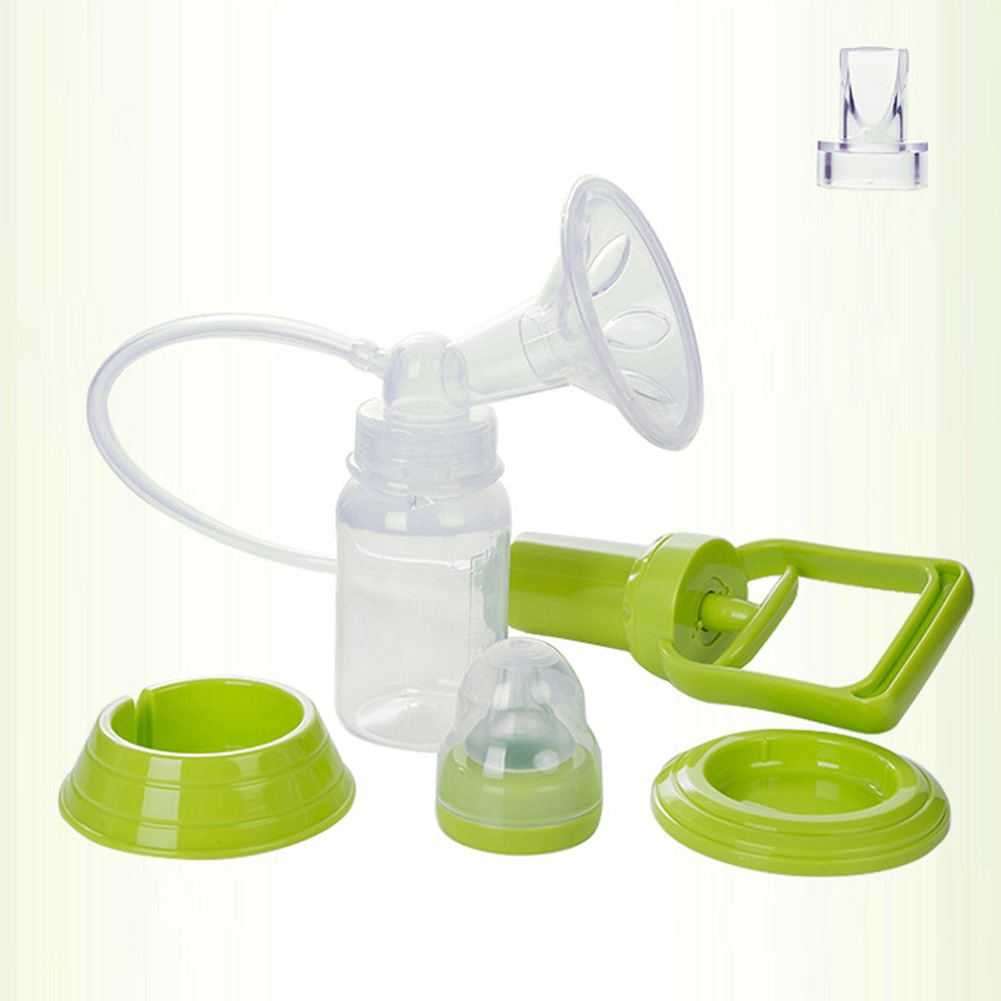 Manual Breast Feeding Pump Manual Breast Milk Silicon PP BPA Free with Milk Bottle Nipple Function YH-17