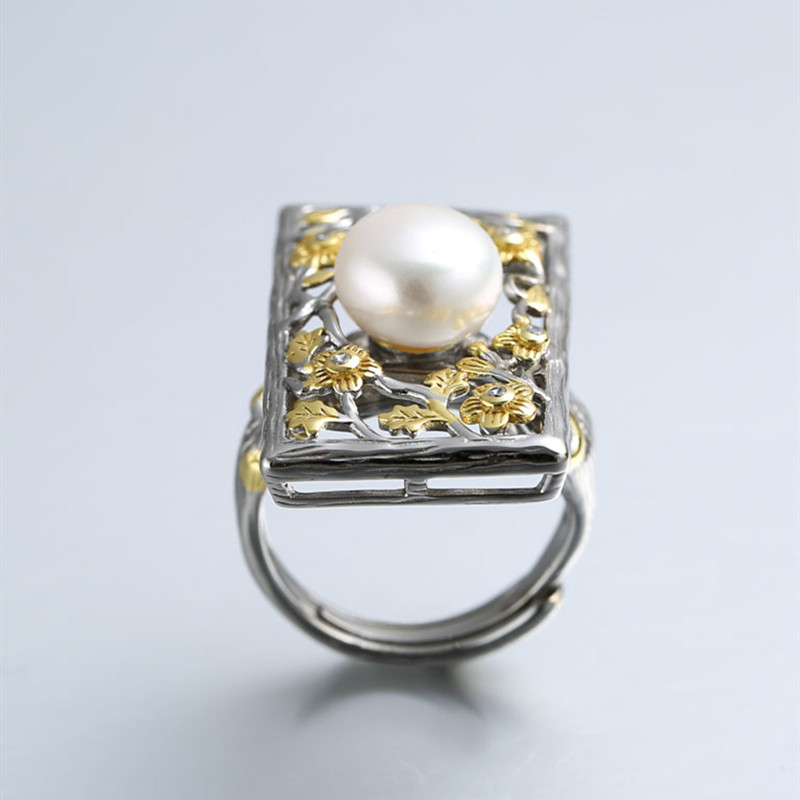 NOT FAKE S925 Sterling simple shell Iregular Ring Big Freshwater Pearl Ring for mom women lady girlNOT FAKE S925 Sterling simple shell Iregular Ring Big Freshwater Pearl Ring for mom women lady girl
