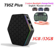 [Auténtica] T95Z Plus 2 GB 16 GB 3 GB 32 GB Amlogic S912 Octa Core Android 6.0 TV BOX 2.4G/5 GHz Dual WiFi Totalmente Carga 4 K H.265 BT4.0