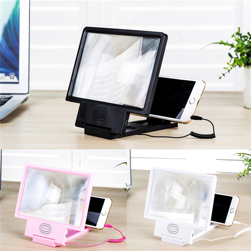 Mobile Phone 3D Screen Amplifier Magnifying Glass HD Stand For Video Folding Enlarged HIFI Sound Stand Video Screen Amplifier