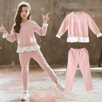 2018 Newly Spring Autumn Toddler Baby Girl Clothes 2PCS Long Sleeve Pullover Sweatshirt Tops+Pants Active Sportswear