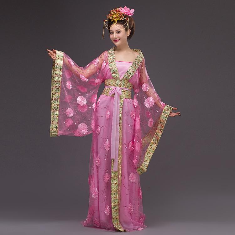 Chinese Princess Costume Women Queen Yarn Dress Ladies Chinese Fairy National CostumeTraditional Chinese Dance Costume 16