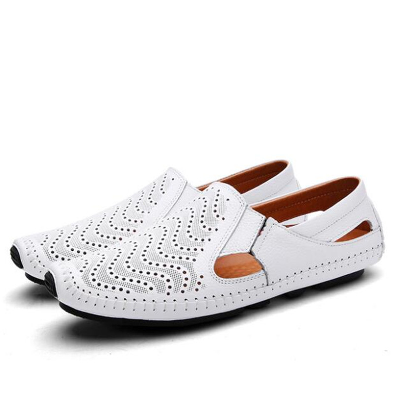 2020 Fashion Moccasins For Men Loafers Summer Walking Breathable Casual Shoes Men Hook&loop Driving Boats Men Shoes Flats