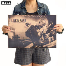 Nostalgico di musica Rock Band Linkin Park poster Retrò restauro vintage krafst carta poster home decor 42x30 cm(China)