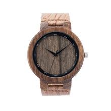 BOBO de AVES De Madera Antigua Reloj Para Hombre Marca Diseñador Decente relojes mujer de Cuarzo Reloj con Correa De Cuero De Grano 2016