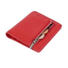 Модный мини-кошелек для женщин, кошельки из натуральной кожи, Женский кошелек на застежке-молнии, дизайнерский Кошелек для монет, ID держатель для карт, тонкий кошелек, женская сумка для монет