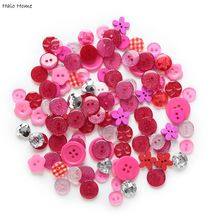 Buttons 11-20mm Quality Red