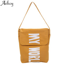 Aelicy girls shoulder bag Multi-Function Wild Canvas Letter Versatile women Hand