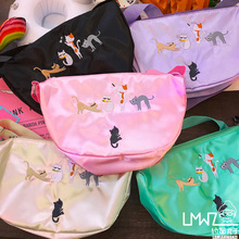 Princess candy lolita bag Original Japanese model colourful candy cute ineresting cat college students shoulder crossbody bag BAG105