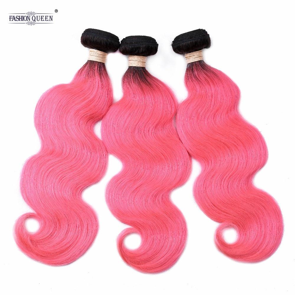 Design; Peruanische 3 Bundles Körper Welle Nicht Remy Menschliches Haar Rosa Haar Weben T1b/rosa Pre-farbige Haar Bundles Novel In