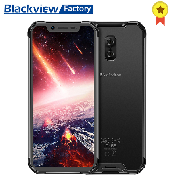 BLACKVIEW BV9600 Pro IP68 6GB+128GB Smartphone 16MP Face ID 6.21 inch FHD+ wireless charge NFC 4G Android 8.1 GPS mobile phone