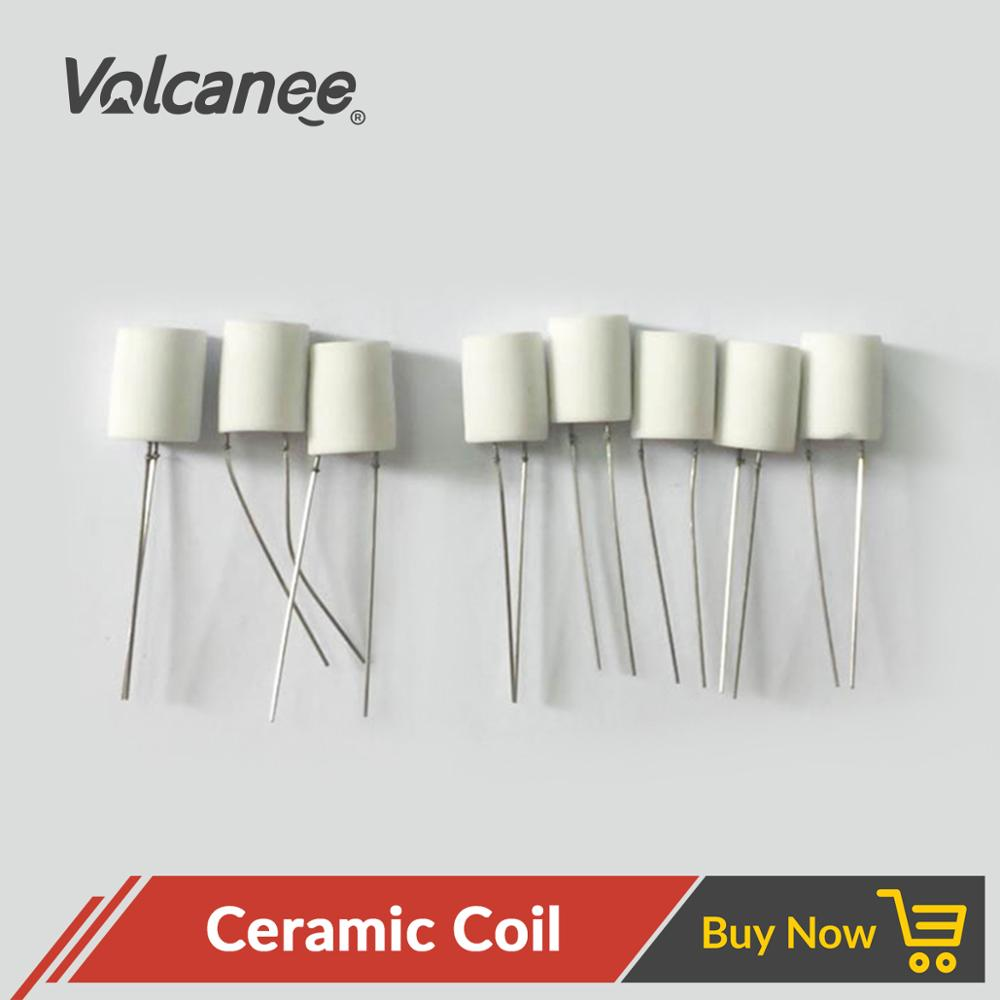 Volcanee 10Pcs Premade Ceramic Coil 1.0ohm 1.3ohm 1.5ohm Oil-Absorbing For CBD Vaper Cartridge DIY ECig Ceramic Heating Wire