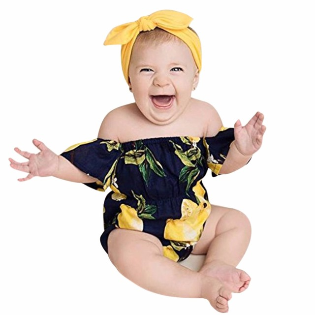 newborn baby gir clothing set yellow lemon romper outfit baby headband jumpsuit clothes cotton set fruit  sc 1 st  AliExpress.com & newborn baby gir clothing set yellow lemon romper outfit baby ...