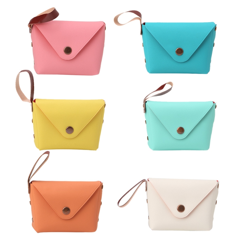 THINKTHENDO Girls Change Coin Purse and Wallets Women Wristlet Pocket Keys Case Candy Color 2018 New Fashion Hasp Small Bag