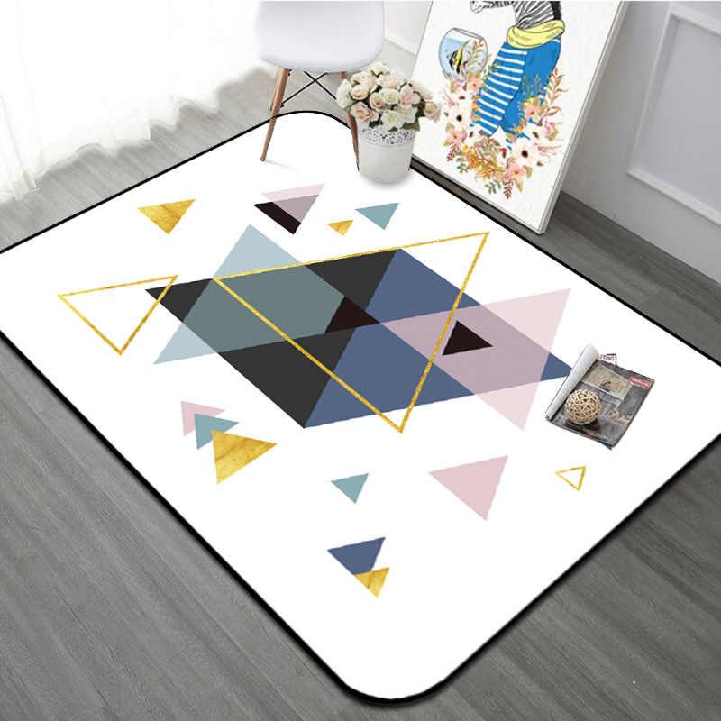 Геометрические ковры для детской комнаты, спальни для гостиной, скандинавские 3D ковры для украшения дома, коврики для прихожей/дверей