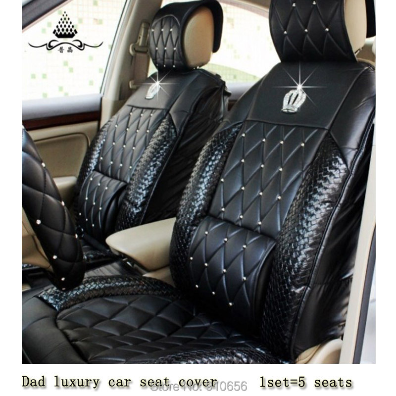 dad luxury car seat cover universal four seasons general diamond seat pad all car cushion auto. Black Bedroom Furniture Sets. Home Design Ideas
