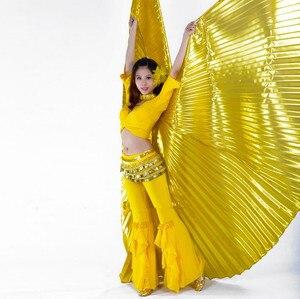 Image 2 - Mısır oryantal dans Isis kanatları için sopa ile yetişkin hindistan dansçı Bellydance kostüm aksesuarı altın mavi gümüş kırmızı ücretsiz kargo