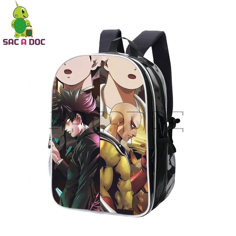 Anime One Punch Man Mob Psycho 100 Split Backpack Women Men Pu Leather School Backpacks for Teenagers Students Travel BagsAnime One Punch Man Mob Psycho 100 Split Backpack Women Men Pu Leather School Backpacks for Teenagers Students Travel Bags