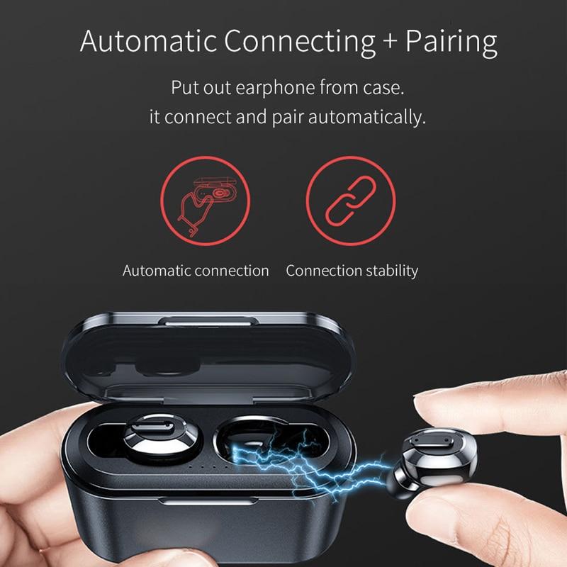 Image 3 - OUSU Invisible Bluetooth 5.0 Earphone TWS mini Wireless Earphones Sport Earbuds Handsfree Earpiece ecouteur sans fil bluetooth-in Bluetooth Earphones & Headphones from Consumer Electronics