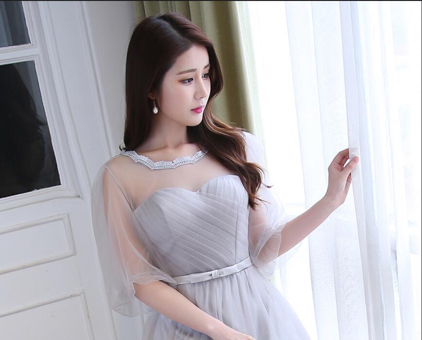 JIERUIZE robe de soiree longue Sølvtulle Billige kveldskjoler Lang - Spesielle anledninger kjoler - Bilde 3