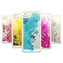 Динамический Блеск Звезды Жидкости Чехол Для iPhone 5 5S SE 6 6 S 7 Плюс Case Коке Для Samsung Galaxy S6 S7 Край A3 A5 2016 2015 J3 J5