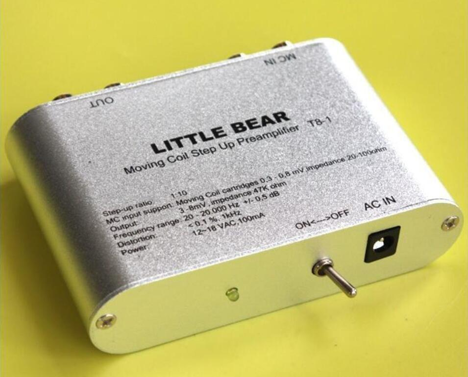 Little bear T8-1 Moving Coil MC Step-Up Electronic Transformer Phono Preamplifier marumi mc close up 1 55mm