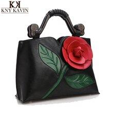 Große Rose Blume Frauen Leder Handtaschen Luxus Frauen Handtasche Berühmte Marke Weibliche Tote Frauen Umhängetasche Vintage Frauen Tasche