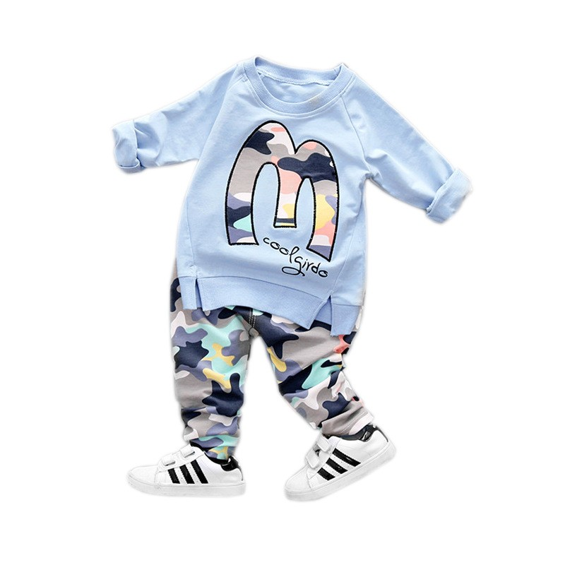 Kids Clothes Christmas Boys Girls Clothes Casual Toddler Fleece Sports Camouflage Tops+Pants clothing Sets baby clothing 7