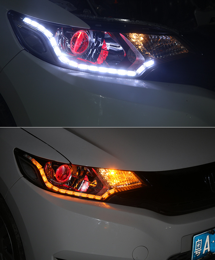 led auto headlights Crystal tear light drl white amber turning light led flexible drl free shipping