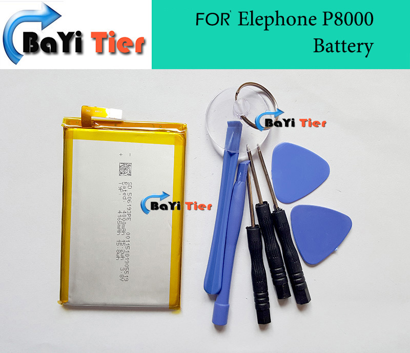 100 ForElephone P8000 Battery High Quality 4165mAh replacement Backup Battery for Elephone P8000 Phone In Stock