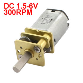 UXCELL Hot Sale 1 pcs RC Toy N20 DC 6V Metal Steering Gear Deceleration Speed Motor 300 RPM