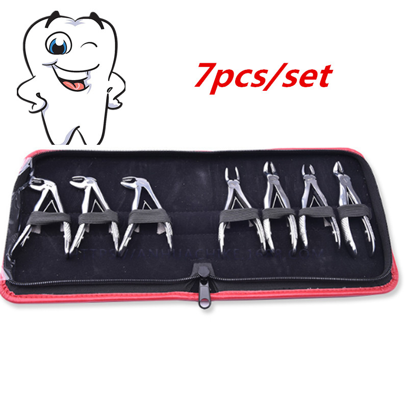2016 NEW high quality Children extraction forceps 7 pcs set dental instruments tools