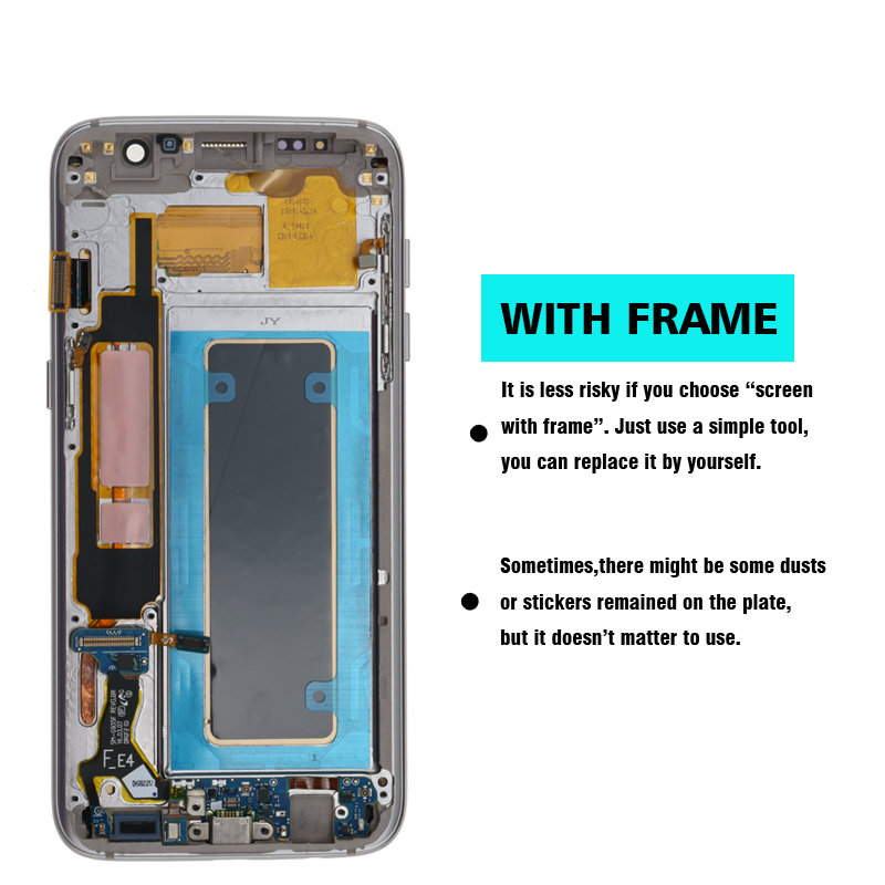 100% Original Super AMOLED LCD Replacement For Samsung S7 Edge G935F G935A G9350 LCD Digitizer Touch Screen With Frame Screen