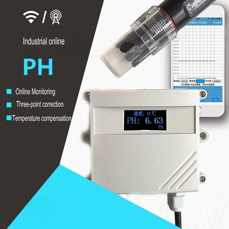 Eight way Enhanced 4 way Industrial Online Acid base PH Water Quality Mobile Phone App Remote Monitoring Display Analog Serial P