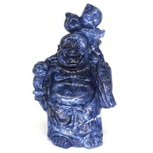9 Maitreya Buddha Statue Natural Blue Sodalite Carved Chakra Reiki Lucky Ornament Art Collectible
