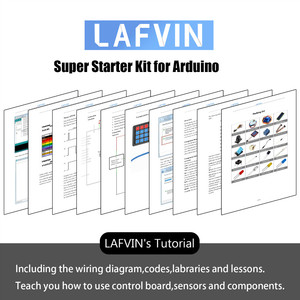 Image 5 - LAFVIN Super Starter Kit for Arduino UNO R3   Uno R3 Breadboard / Step Motor / 1602 LCD / jumper Wire / with CD Tutorial