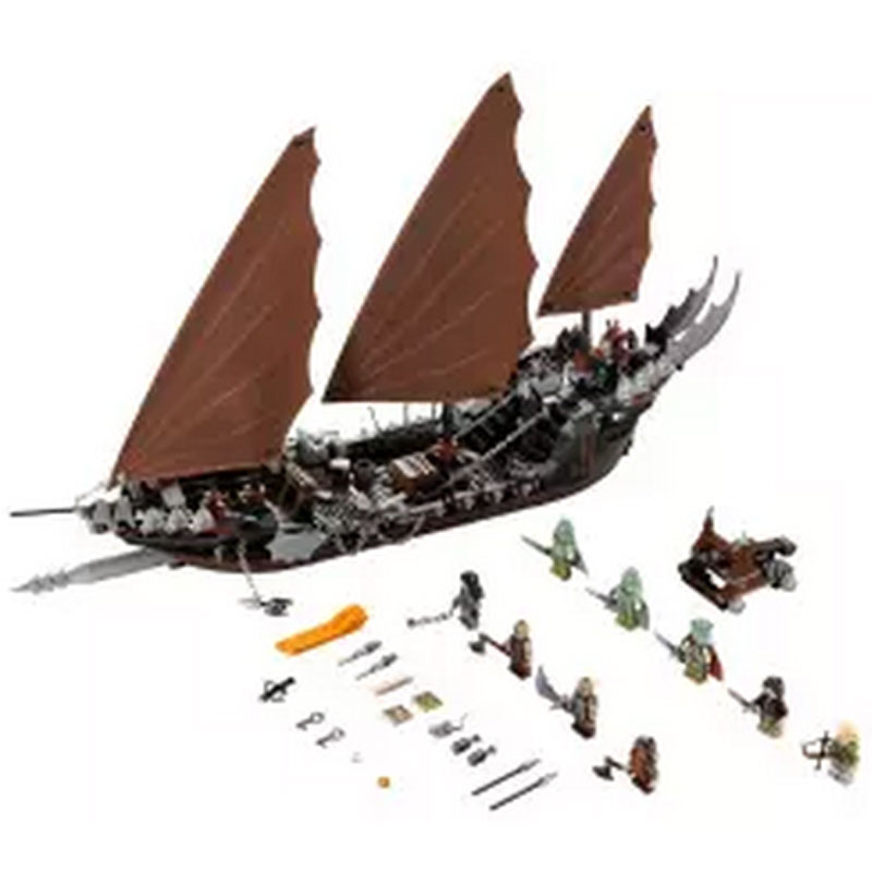New Lepin 16018 Genuine The lord of rings Series The Ghost Pirate Ship Set Building Block Educational Brick for DIY Toys 79008  lis new lepin 16018 genuine the lord of rings series the ghost pirate ship set building block brick toys 79008