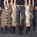 ГОРЯЧАЯ Dnine осень армия мода висит промежность jogger брюки лоскутное шаровары Военных мужчины промежность большие Камуфляжные штаны брюк
