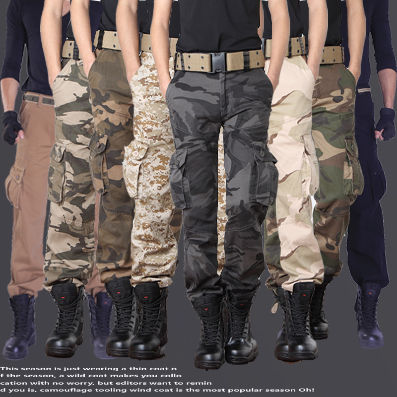 HOT Dnine autumn army fashion hanging crotch jogger pants patchwork harem pants Military men crotch big Camouflage pants trouser