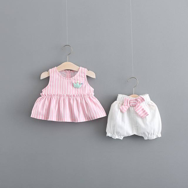 ebf0768843c11 2018 Limited Newborn Clothes For Bebek Baby Girl Leisure Two piece Summer  Dress 0 3 Year Old Sleeveless Doll Shirt Pants Suit on Aliexpress.com | ...