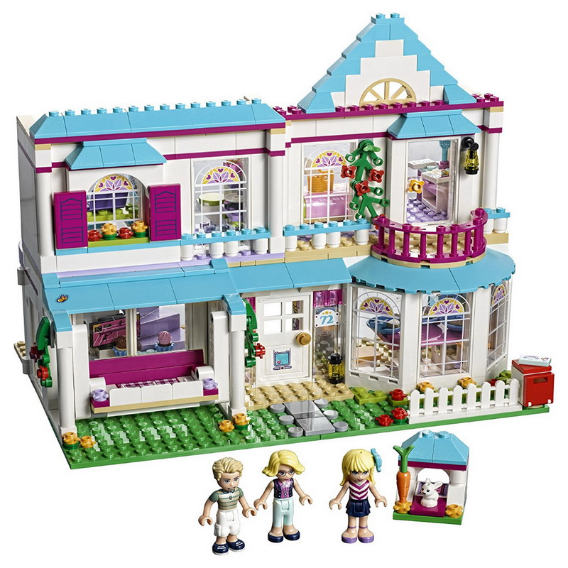 LEPIN 01014 Friends Series Stephanie's House Figure Blocks Educational Construction Building Toys For Children Compatible Legoe hsanhe street architecture series lepin city house bank model building kits brick blocks educational toys for children friends