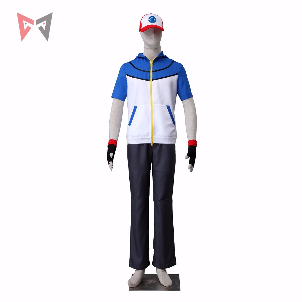 Athemis Ash Ketchum cosplay  Pokemon Pocket Monster BW-Ash Katchum cosplay costume any size custom made