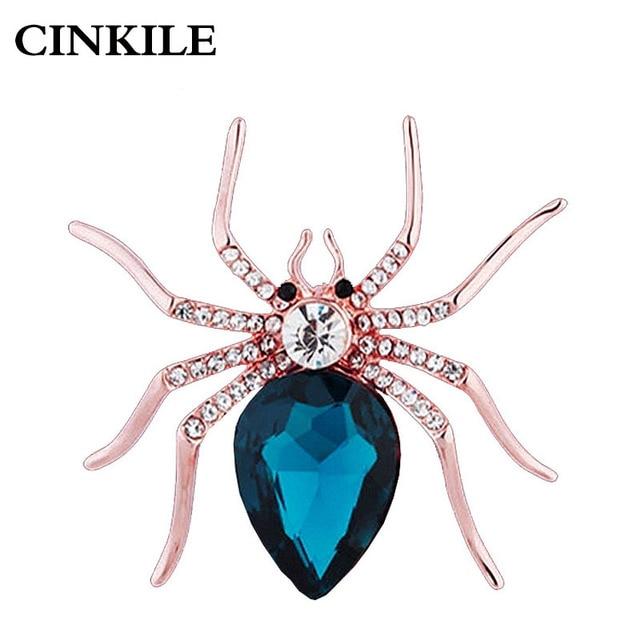 CINKILE Cristal Araignée Broches pour les Femmes Strass Insectes Broche Broches De Mariage Broche Élégant Accessoires De Mode Bijoux
