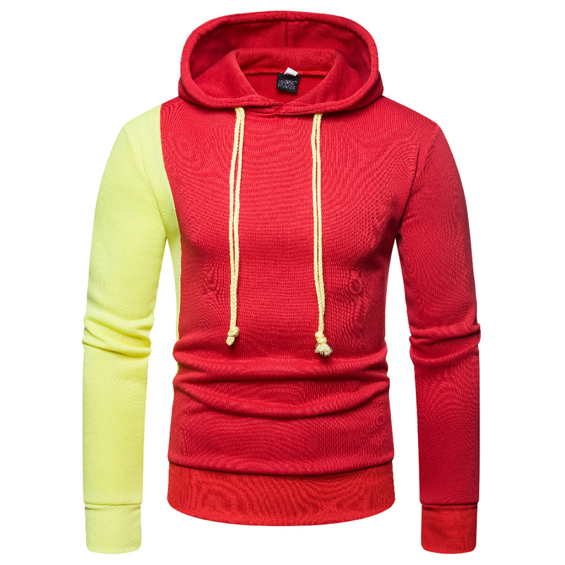 Men 39 s Hoodies Male Brand Hoodies Color Stitching Patchwork Streetwear Sweatshirts Men Cotton Slim Fit Men 39 s Hoody XXL in Hoodies amp Sweatshirts from Men 39 s Clothing