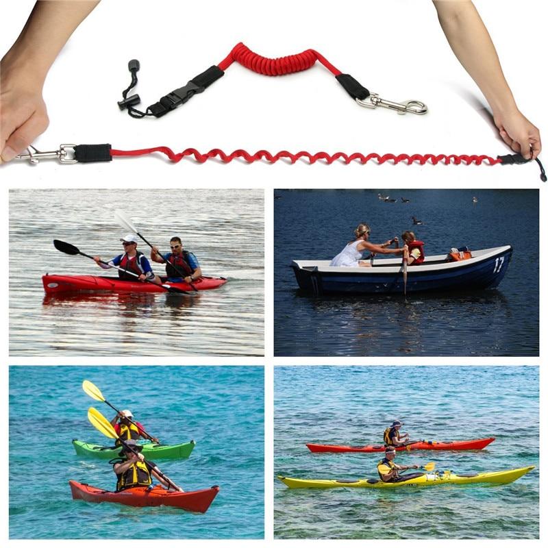 Elastic Kayak Canoe Paddle Leash Surfboard Surfing Rope Rowing Safety Leash US