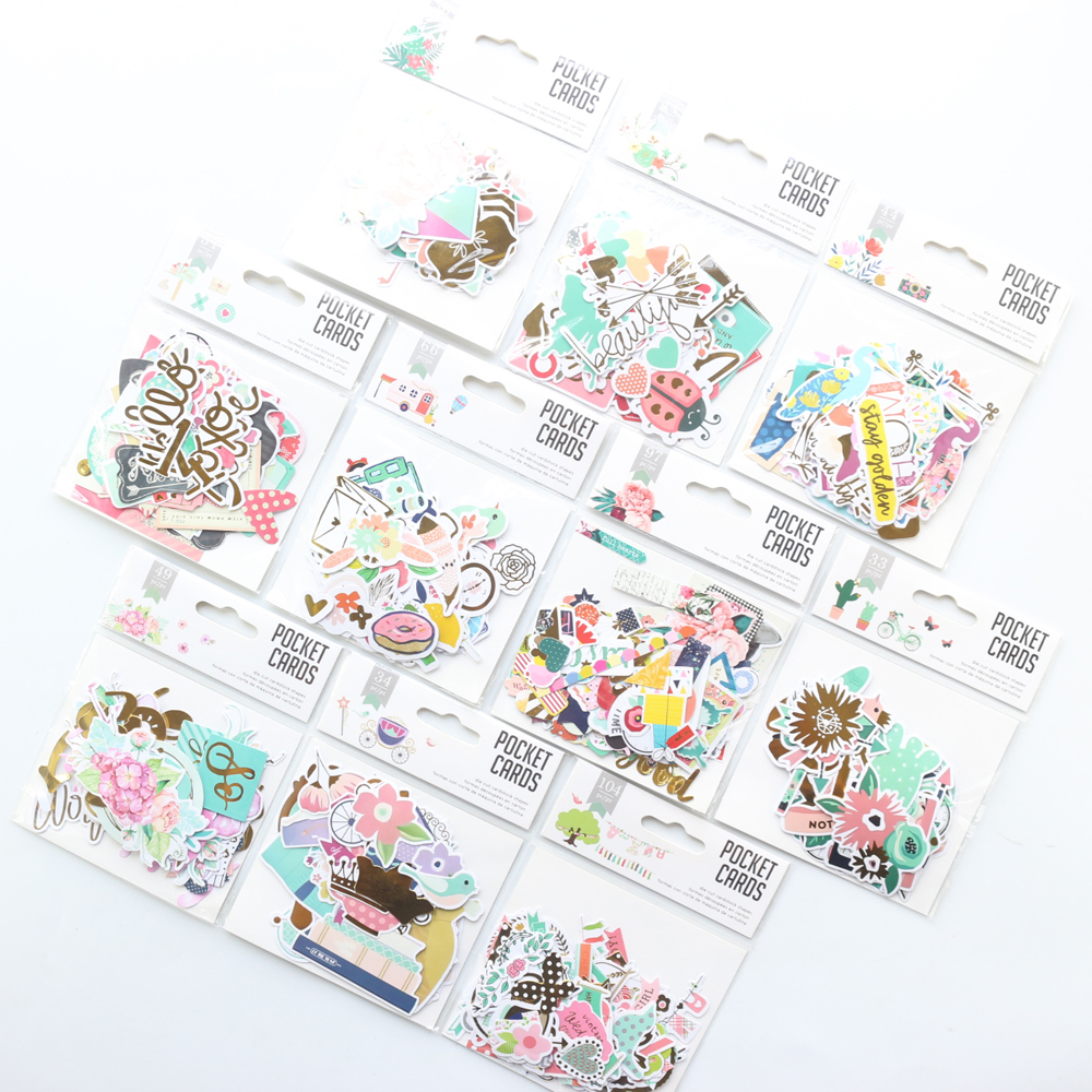 Domikee Cute Cartoon Decoration Foil Sticker For Diary Planner Notebook Stationery,decoration DIY Scrapbook Sticky Pocket Cards