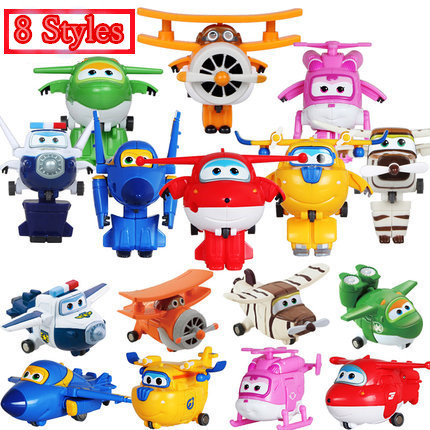 Best Sale Super Wings Super Wings Mini Planes Deformation Airplane Robots Action Figures Transformation children Christmas