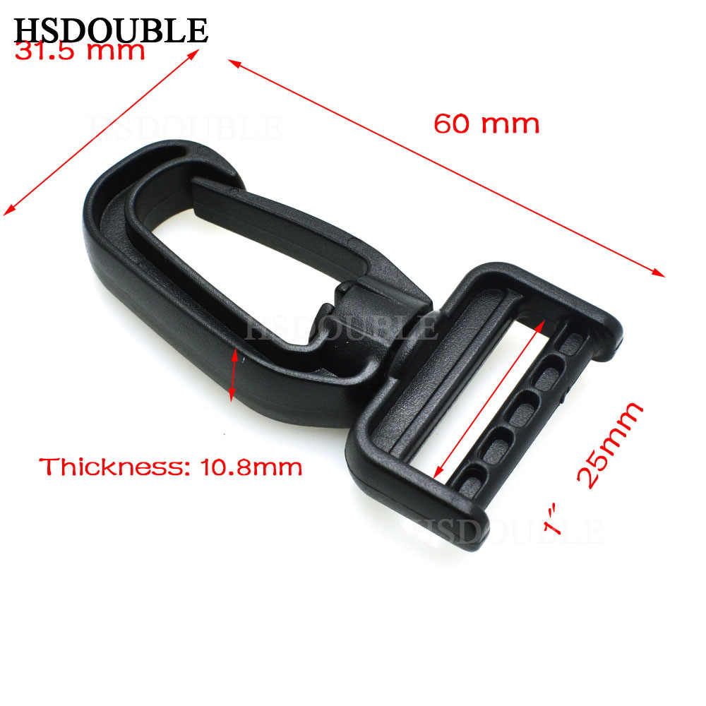 Ganchos de seguridad giratorios de plástico para bolso cinturones correas para llavero cierre accesorios mochila