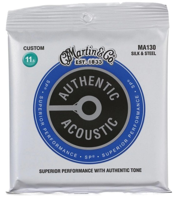 Martinguitar MA130S Authentic Acoustic Silk and Steel Guitar Strings 11.5-47